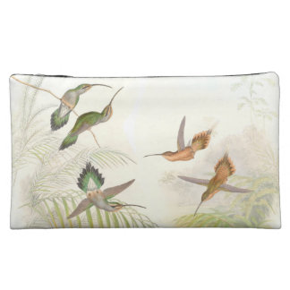 Hummingbirds Sueded Bag Cosmetic Bag