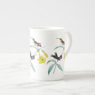 Hummingbirds Wildflower Botanical Bone China Mug