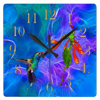 HummingBirds Wildlife Birdlover Gift Clock