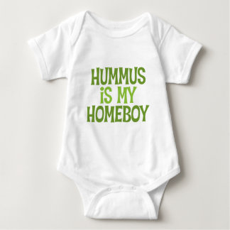 Hummus Is My Homeboy Baby Baby Bodysuit