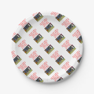 HUMOR 7 INCH PAPER PLATE