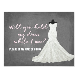 "Humor Bride | Bridesmaid 4.25"" X 5.5"" Invitation Card"