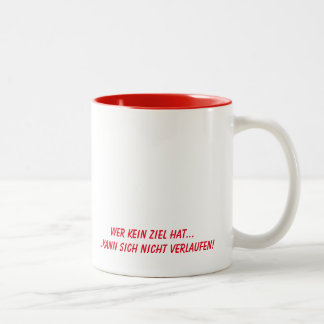 Humor - german Text Two-Tone Coffee Mug