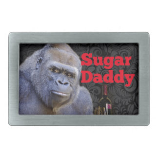 humor joke Funny Sugar Daddy Gorilla Rectangular Belt Buckle