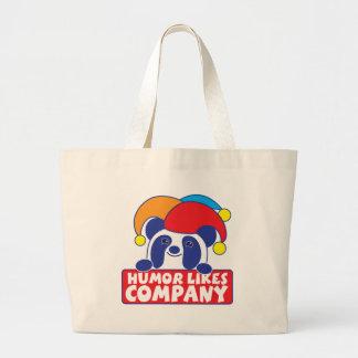 humor like company panda canvas bags