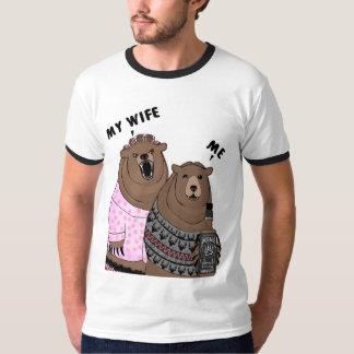 Humor Me Bear Ringer T-Shirt