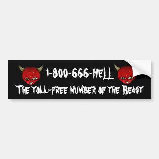 Humor of the beast. bumper sticker
