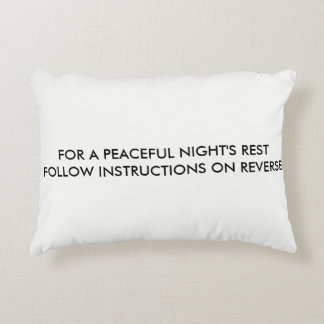 (HUMOR) PEACEFUL NIGHT'S REST PILLOW (FOR LGBT)