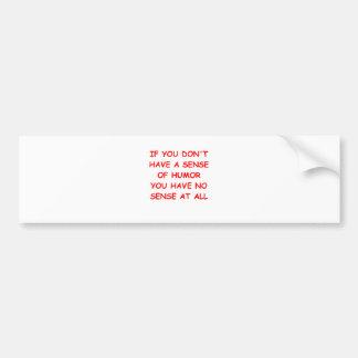 HUMOR.png Bumper Sticker