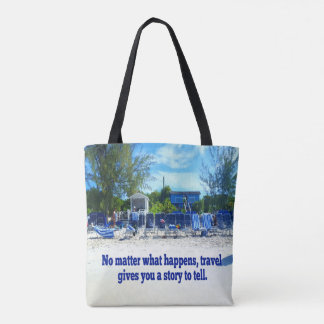 Humor Quote Beach Perspective From Water. Tote Bag