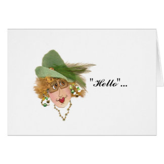 Humoros Red Headed Gal greeting card