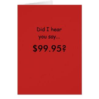 Humorous 100th Birthday Card