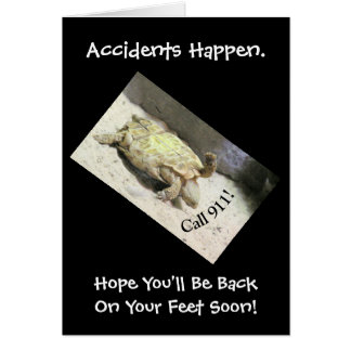 HUMOROUS ACCIDENT CARD/TURTLE UPSIDE DOWN/CUSTOMI CARD