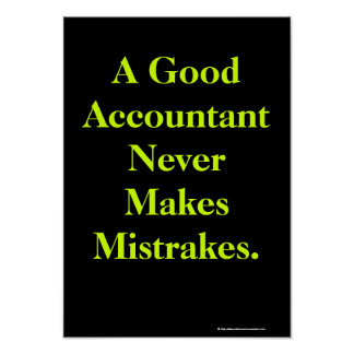 Humorous Accountant Poster