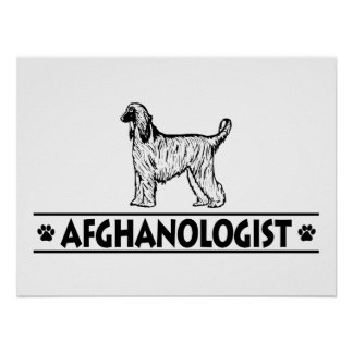 Humorous AFGHAN HOUND Poster