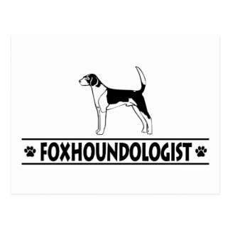 Humorous AMERICAN FOXHOUND Postcard