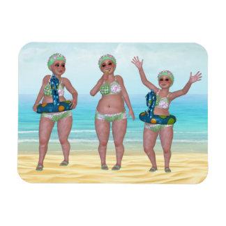 Humorous Bathing Beauty Flexible Magnet