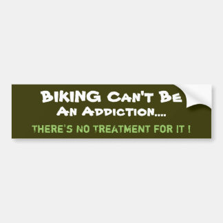 Humorous Biking Bumper Sticker