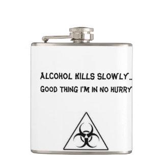 Humorous Biohazard Flask