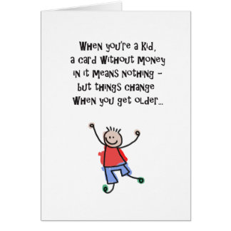 Humorous Birthday Card Without Money In It!
