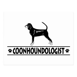 Humorous Black and Tan Coonhound Postcard