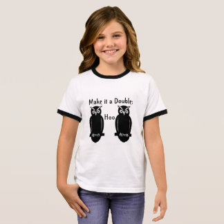Humorous Black Owls on Kid's T-shirt  Cute Funny