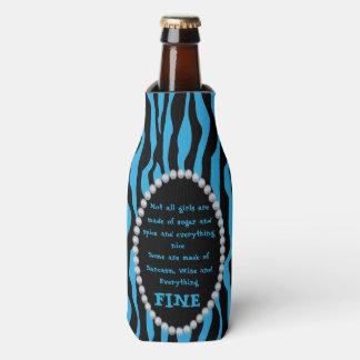 Humorous - Blue Zebra, Diamonds Not all Girls Bot Bottle Cooler