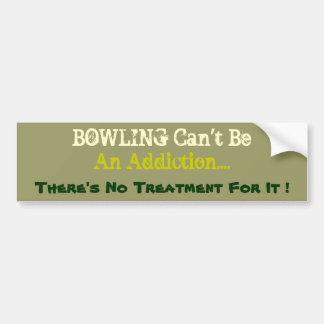 Humorous Bowling Bumper Sticker