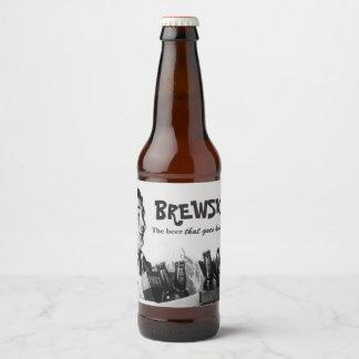 Humorous Brewski Retro Nineteen-fifties Beer Beer Bottle Label