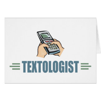 Humorous Cell Phone Texting Card