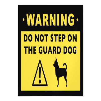 Humorous Chihuahua Guard Dog Warning Magnetic Card