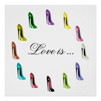 Humorous Customisable Stilettto Shoe Art Poster
