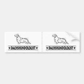 Humorous Dachshund Longhaired Bumper Sticker