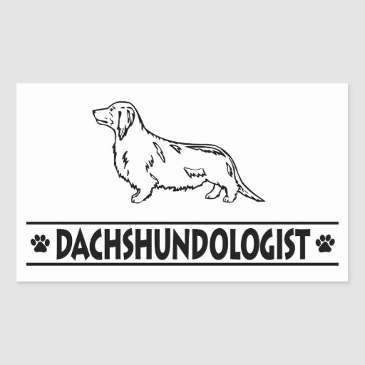Humorous Dachshund Longhaired Stickers
