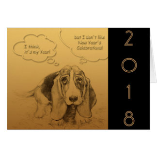 Humorous Dog Year 2018 Greeting Card