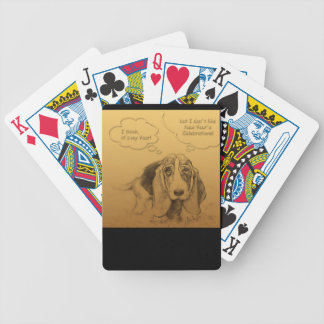 Humorous Dog Year 2018 Playing Cards