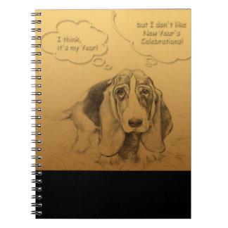 Humorous Dog Year 2018 Spiral Notebook