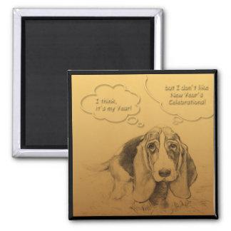 Humorous Dog Year 2018 Square magnet