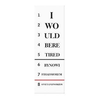 Humorous Eye Chart Canvas
