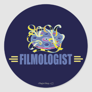 Humorous Film Round Sticker
