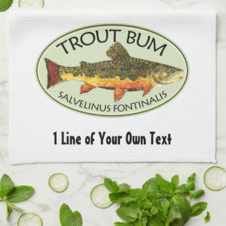 Humorous Fishing Kitchen Towel