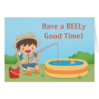 Humorous Fishing Pun Happy Birthday Greeting Card