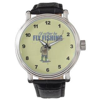 Humorous Fly Fishing Wristwatch