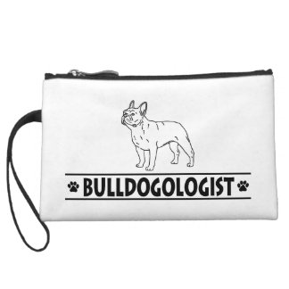 Humorous French Bulldog Wristlet