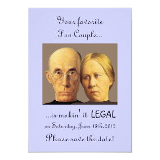 Humorous Fun Couple Unique Nerdy Save-The-Date Card