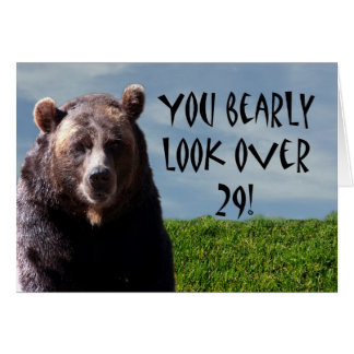 Humorous Funny Bear Animal Birthday Card