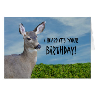 Humorous Funny Deer Doe Birthday Greeting Card