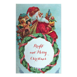 HUMOROUS FUNNY SANTA XMAS CROWN STATIONERY