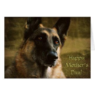Humorous German Shepherd Mother s Day Card