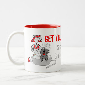 Humorous Get Your Groom On in Red Custom Two-Tone Coffee Mug